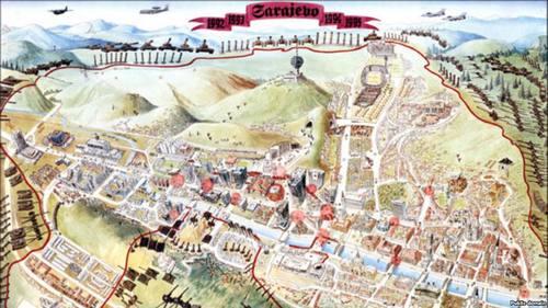 Dusan Sehovac Lazna Mapa Opsade Sarajeva Trebevic Net