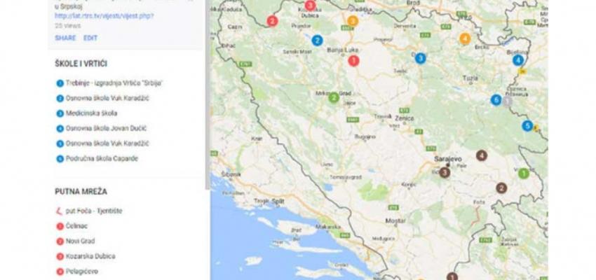 Interaktivna Mapa Projekti Srbije U Srpskoj Trebevic Net