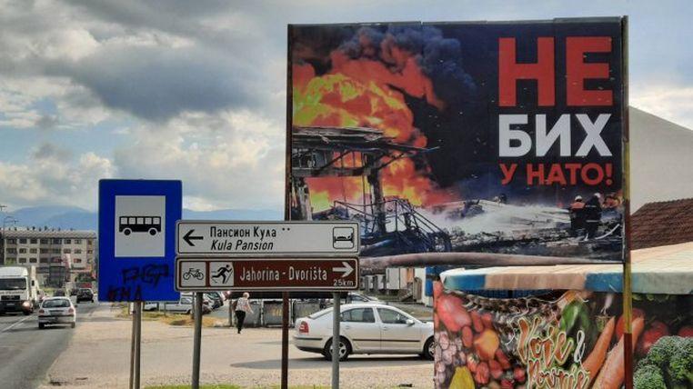 """Bilbordi """"Ne BiH u NATO!"""" osvanuli u Istočnom Sarajevu (FOTO) - Trebevic.net"""